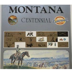 Vintage Montana Centennial Stan Lynde Signed